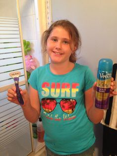 "#VenusSwirl #GotItFree My girl Hailey rocking her new Venus razor and shaving cream. Said they made her legs ""so silky smooth""!"