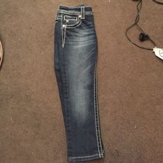 Miss Me Capris worn twice, good condition size 24 just don't fit me anymore Miss Me Other