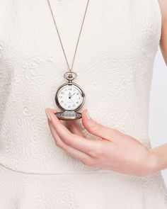 for women: Pocket Watch Pendant. IDEA: anniversary gift; Engraved matching pocket watches. She uses as pendant, he uses as pocket watch