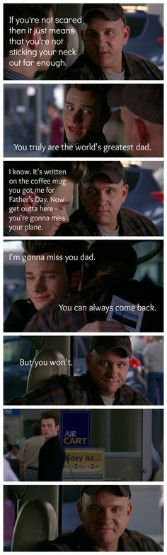 Father and son goodbye
