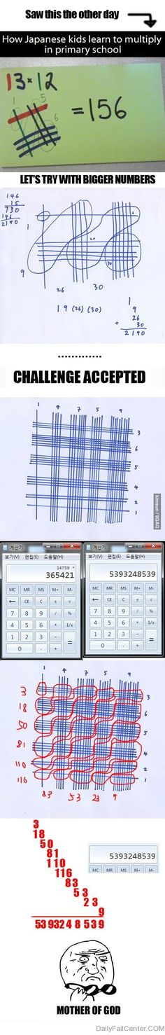 Japanese Math. My husband just showed me this last week! (Geek Stuff Cases)