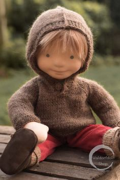 "20"" waldorf Doll inspired Natural Fibre Art Doll by Waldorfdollshop."
