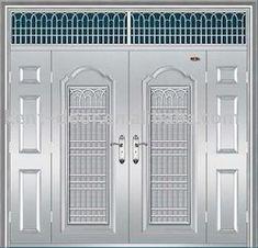 Find here Steel Door Manufacturer in Orissa, Rajasthan, Punjab etc. Bhawani Steel is best for steel doors at affordable price. Grill Gate Design, Steel Gate Design, Fire Rated Doors, Fire Doors, Hollow Metal Doors, Door Grill, Steel Security Doors, Door Tags, Modern Door