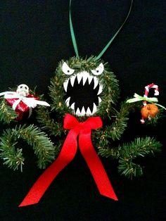 NIGHTMARE b4 Christmas evil MEAN monster wreath