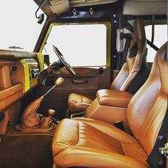 Retro Edition Interiors... #Twisted #TwistedDefender #Style #LandRoverDefender…