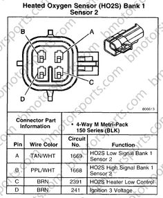 gm o2 sensor wiring diagram side exhaust pipe one sensor rh pinterest com