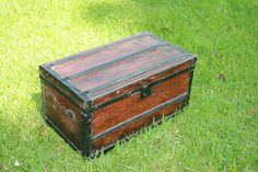 Trunk Wood and Metal Storage IN STOCK. $69.99, via Etsy. Coffee table idea