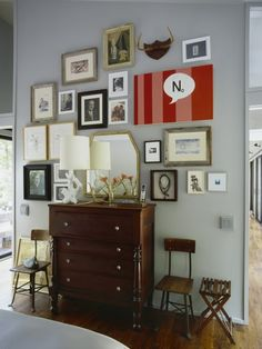 add one surprising element on a gallery wall