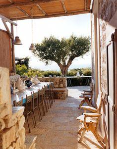 Silvia Venturini Fendi's Island Home on PONZA. The outdoor dining area seats up to 20 people.