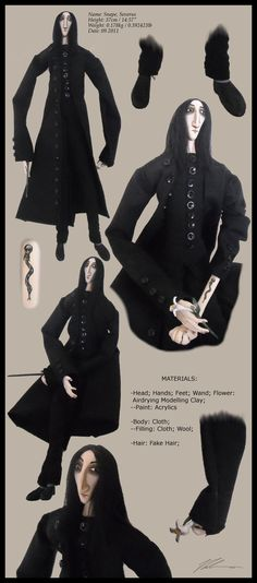 Severus Snape Doll - the 2nd by RandomMumble