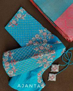 Shop For Bridal Designer Blouses Right Here! Cutwork Blouse Designs, Pattu Saree Blouse Designs, Simple Blouse Designs, Embroidery Neck Designs, Embroidery Suits Design, Stylish Blouse Design, Bridal Blouse Designs, Hand Work Design, Hand Work Blouse Design