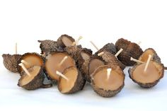 DIY Use Acorns As Tea Lights! Good for every day or fall weddings!