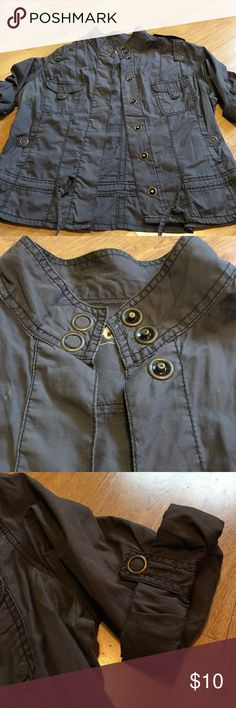 Cute jacket! Charcoal gray military style jacket- cute hardware and fun with jeans or black pants! Form Target- junior size XXL- more like a XL in women's size! Mossimo Supply Co. Jackets & Coats