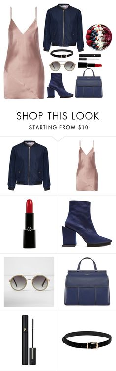 """""""Slip"""" by icyfrappy ❤ liked on Polyvore featuring Glamorous, Fleur du Mal, Giorgio Armani, Toga, River Island, Tory Burch and Lancôme"""