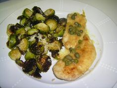 Lemon and Parmesan roasted Brussels sprouts - easy and yummy!!