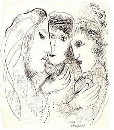 Chagall. Naomi and her daughters in law.