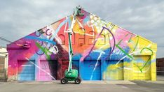 Clearly HENSE's installation at the 2013 Street Art Festival was an inspiration!  Come see our current exhibition of his work, open through August 29.