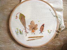 misako mimoko: Embroidering a forest. Bordando el bosque, primer taller.