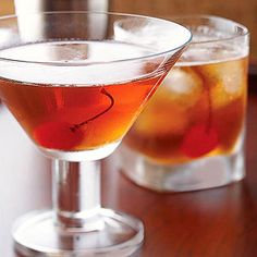 Manhattan Bitters, a key ingredient in many cocktails, has a pungent bittersweet flavor. It's combined with bourbon and sweet vermouth in this classic cocktail.