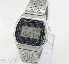 Vintage Casio Marlin W36 Watch 1980's Digital Alarm Chrono 12 24 Hour SuzePlace.com