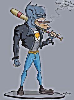 Batman #batman  #caricature #cartoon #illustration #drawing