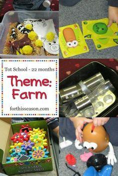 Tot School Farm Theme 22 months