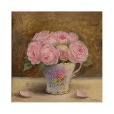 antique roses II Original oil painting Helen by HelenFlont