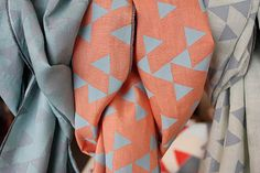 hand printed linen scarfs - these are on my wishlist!