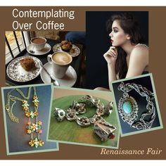 Contemplating Over Coffee by renaissance-fair on Polyvore featuring Peruzzi and vintage