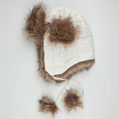 Ear flaps with button secures. Trapper Hats, Faux Fur, Winter Hats, Ear, Women, Woman