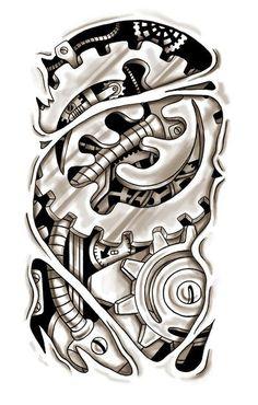 Steampunk Gears Tattoo Steampunk Clock Tattoo Designs Mvlc