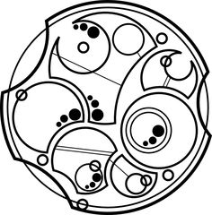 "Circular Gallifreyan: ""Not all who wander are lost."""