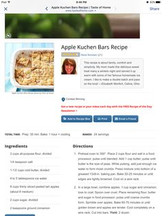 Apple Kuching bars