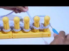Zippy Loom - Flat Knit Stitch - YouTube