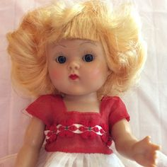 All Original 1950-52 Strung Transitional Ginny Doll By Vogue