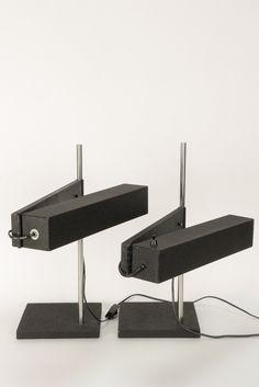 Pair of Dieter Waeckerlin Saffa Desk Lamps 60's