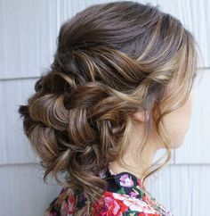 Featured Hairstyle: Heidi Marie (Garrett) Villa - Hair and Makeup Girl; Wedding hairstyle idea.