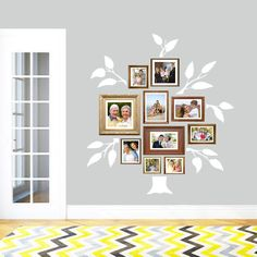 Use this Family Tree Wall Decal set to accompany your family portraits. With a trunk and six branches available in a variety of colors, this kit can be used however you want to display your family tree.