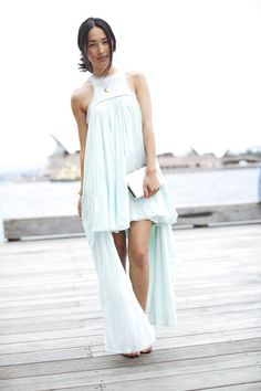 aquamarine Talulah dress     / cream Forever New bag     / gold gary pepper vintage bracelet     gold gary pepper vintage necklace    / gold Michael Kors watch     / black tony bianco heels