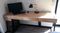 Biurko zabudowa komputera #forma #minimal #minimalism #industrialdesign #naturalwooddesk Industrial Design, Corner Desk, Minimal, Room, Furniture, Home Decor, Corner Table, Bedroom, Decoration Home