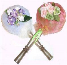 Refillable Pearlescent Powder Puff Long Handle Things I