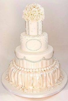 "10 Wedding Cake Tips from Buddy ""Cake Boss"" Valastro : Brides Cake Boss Wedding, Wedding Cake Images, White Wedding Cakes, Beautiful Wedding Cakes, Wedding Cake Designs, Beautiful Cakes, Dream Wedding, Amazing Cakes, Wedding Ideas"