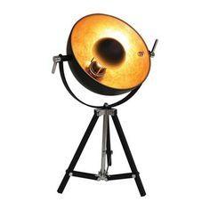 De Tafellamp Golden Sun staal zwart/goud (1x60W voor in de woonkamer, slaapkamer of in kantoor. Deze lamp geeft een prachtige sfeer!