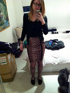 top shop, leopard print, pencil skirt, librarian, what i wore to work