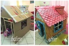 You'll Never Believe That a Grandfather Made This Dream Playhouse From a Cardboard Box
