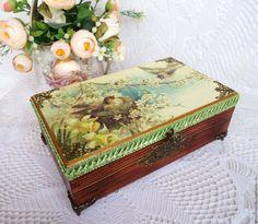 Купить «В весеннем саду» Шкатулка для украшений, рукоделия, декупаж - винтаж, женственный, шкатулка