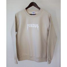 Tan Kanye West Yeezus Tour Supersoft Crewneck Sweatshirt Sand Beige... (300 SEK) ❤ liked on Polyvore featuring tops, hoodies, hooded pullover, sweatshirt hoodies, hooded sweatshirt, oversized hooded sweatshirt and vinyl top