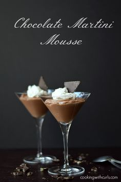 Chocolate Martini Mousse cookingwithcurls.com
