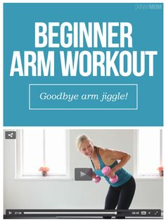 Get sexier arms with this simple, beginner arm workout! Arm Workout No Equipment, Arm Workout Men, Dumbbell Arm Workout, Tone Arms Workout, Arm Toning Exercises, Workout Women, Arm Workout Videos, Arm Workouts At Home, Workout Routines For Beginners