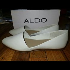 Aldo White Ballet Flats Size 8.5 - New ?? Brand new, never worn, no damage.   ?? Smoke-free, pet-free household.   ?? No trades/swaps!  ?? No holds!  ?? No low-balling!  ?? No PayPal!   ? Reasonable offers welcomed! Please use the offer button so I know you are serious about the item! I will not respond to price negotiations via comments.  ? I love bundling! Not only will you get ONE shipping fee, I will also discount your combined total! Please ask me in the comments!  ?? Happy poshing! ??…